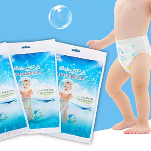 kemai Baby Schwimmwindel Einweg Schwimmwindel Baby Wasserdicht Schwimmhose, Wasserdichtes Material, Siehe Abbildung, Large