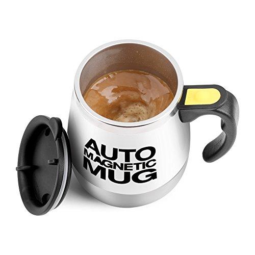 VBESTLIFE Elektrische Edelstahl selbst mischende Kaffeetasse,Schalen magnetische rührende...
