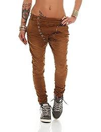 Fashion4Young 10967 MOZZAAR Damen Jeans Röhrenjeans Haremshose Hüftjeans  Baggy Haremsjeans Boyfriend ca2da4a916