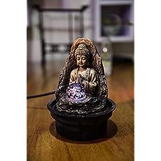 Zen'Light Fuente Peace Resina, Bronce, 15 x 15 x 21 cm