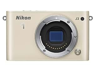 Nikon 1 J3 Systemkamera (14 Megapixel, 7,5 cm (3 Zoll) LCD-Display, Full HD) Kit inkl. 1 Nikkor 10-30 mm VR-Objektiv beige
