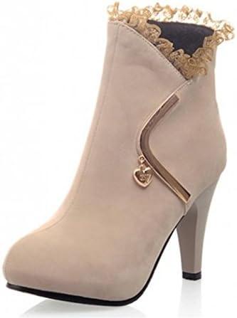 Las mujeres de DZW ponen en cortocircuito el talón del talón del tobillo de las botas cortas occidentales del...