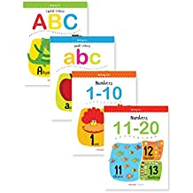 Writing Practice A Set Of 4 Books (Writing Fun Pack): Write And Practice Capital Letters, Small Letters and Numbers 1 to 20