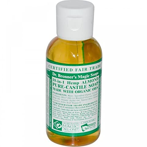 Dr. Bronner's Almond Castile Liquid Soap Made with Organic Ingredients 60 ml