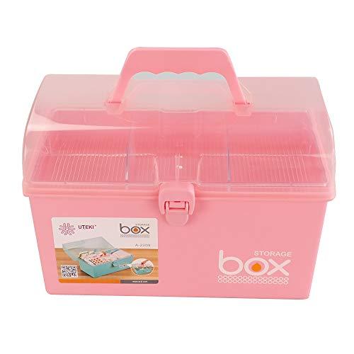 41zggHq N3L - Rinboat Caja Botiquín Medicamentos de Plástico para Primeros Auxilios, Color Rosa, 1 Unidad