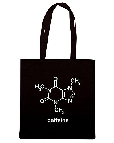T-Shirtshock - Borsa Shopping OLDENG00431 caffeine molecule Nero