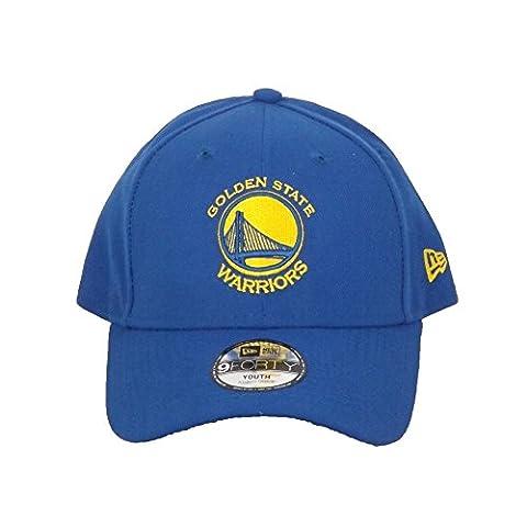 Casquette Enfant 9FORTY Junior League Golden State Warriors bleu NEW ERA - Taille Enfant Ajustable