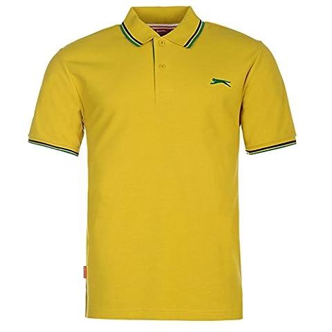 Polo Slazenger - SLAZENGER Polo T-shirt Moutarde Top T-shirt pour
