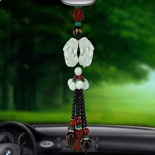 JIANPING Auto Anhänger Hochwertige Tier Beast Tigerauge Jade Auto Dekoration Ornamente Anhänger Sicherheit Stift 25 cm Auto Anhänger (Size : B)
