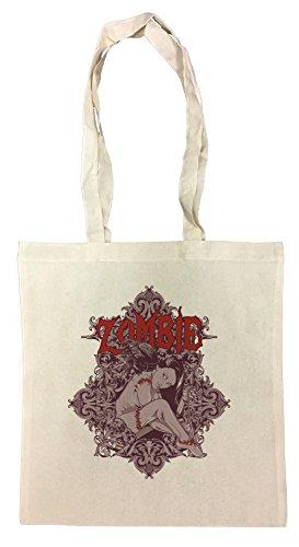 Zombie Girl Bolsa De Compras Playa De Algodón Reutilizable