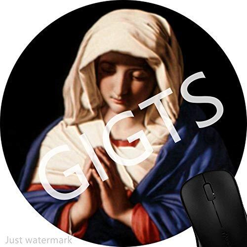 Alfombrilla de Ratón de Juego,Mouse Pad Mat Tela Base de Caucho Compatible con Ratón Láser y óptico Negro Santísima Virgen María Madre de Dios 1Z338
