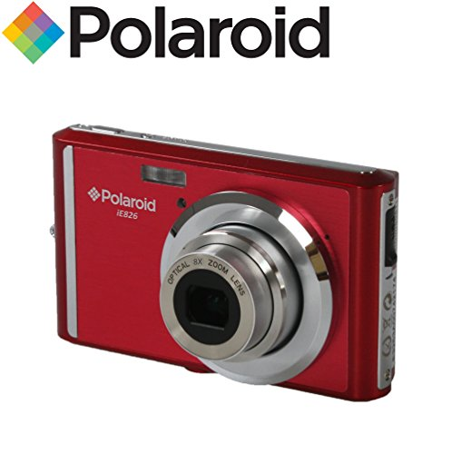Extrem kompakte 18-Megapixel-Digitalkamera Polaroid IE826 (18 MP, 8-facher optischer Zoom, Li-Ion-Akku, 2,4