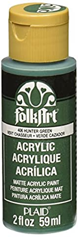FolkArt Acrylic Paint in Assorted Colors (2 Ounce), 406 Hunter Green