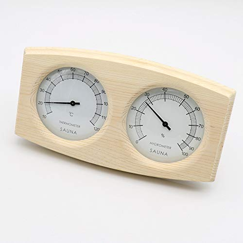 Doppelt Sauna Holz Hygrothermograph Thermometer Hygrometer Sauna Zubehör