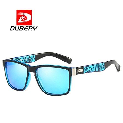 bescita DUBERY Herren Retro Vintage Sonnenbrille im angesagte Browline-Style mit markantem Halbrahmen Sonnenbrille,Brillen Trends 2018 (B)