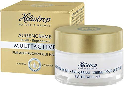 HELIOTROP Naturkosmetik MULTIACTIVE Augencreme, Mit wirkungsvollem Straffungseffekt, Fördert die Regeneration der zarten Augenpartie, Reduziert die Faltentiefe, 15ml