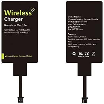 Kosee Qi Carte de Module de Réception de Chargeur sans Fil compatible avec Tous Les Smartphones Dotés D'un Port Micro USB