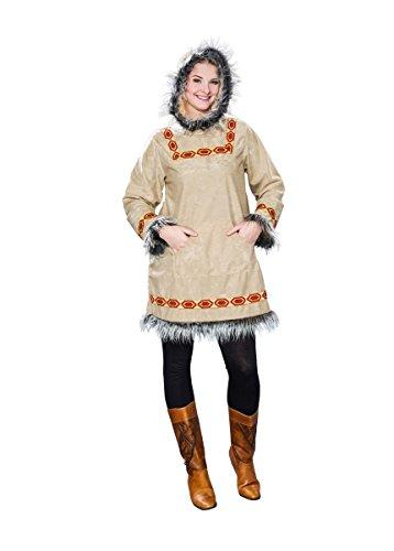 Frau Kostüm Eskimo - Karneval-Kostüm Eskimo-Frau (Kapuzenkleid) (48/50)