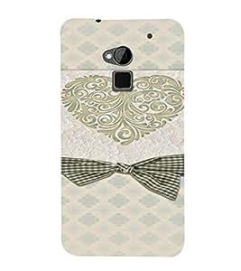 PrintVisa Heart & Bow Rich Design 3D Hard Polycarbonate Designer Back Case Cover for HTC One Max