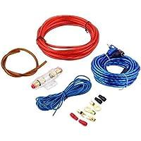 Nowakk 1 Juego de Amplificador de Potencia para automóvil Altavoz para automóvil Cables de woofer Amplificador Kit de instalación para línea de Juego de subwoofer para automóvil con Fusible