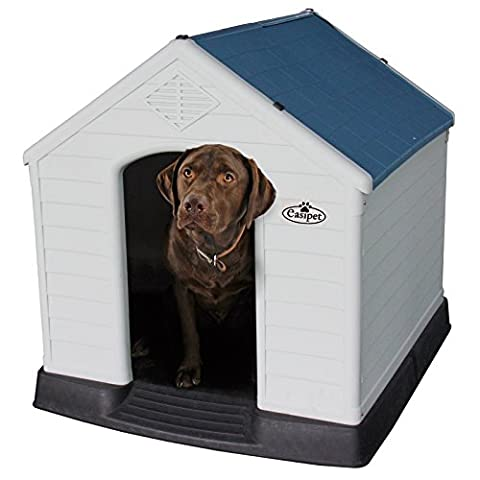 XL Plastic Dog Kennel, Weatherproof for Outdoor Use (939)