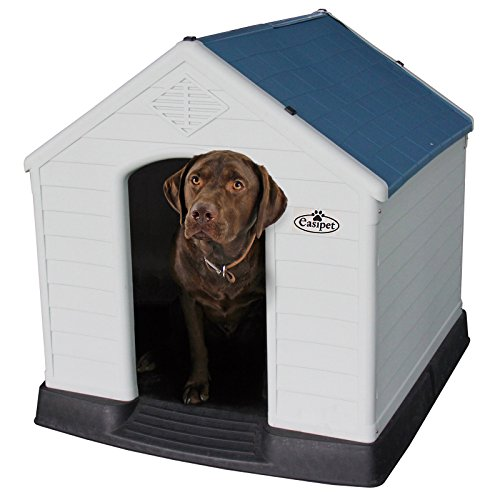 XL Plastic Dog Kennel, Weatherproof for Outdoor Use