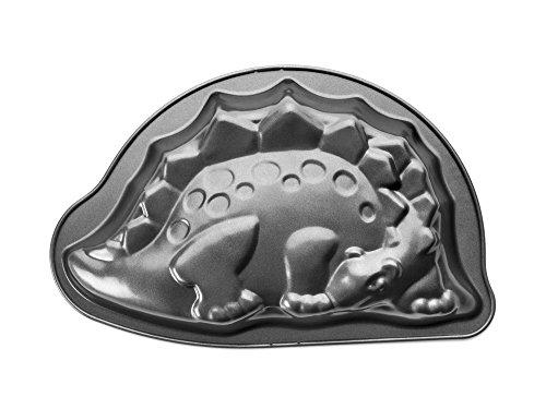 Ibili 828730Moka–dinosaurio molde chapa de acero 30x 20x 5cm, color negro