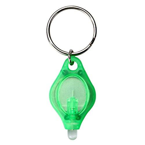 Mini Keychain Taschenlampe, 5 stücke Tragbare Super Helle LED Keychain Lampe Taschenfackel Anhänger Schlüsselanhänger Lampe für dunkle Bereiche Camping/Wandern/Walking Grün Super Helle Led Keychain