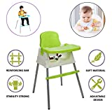 Safe-O-Kid Premium Quality, Convertible 4 in 1 Booster High Chair with Adjustable Tray for Baby- Green
