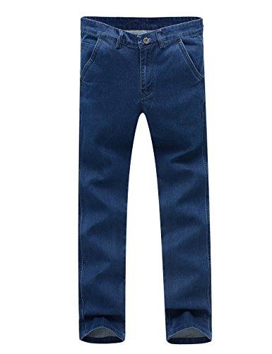 Menschwear Stein Wash Herren Jeans Regular Straight 28-40 Blau