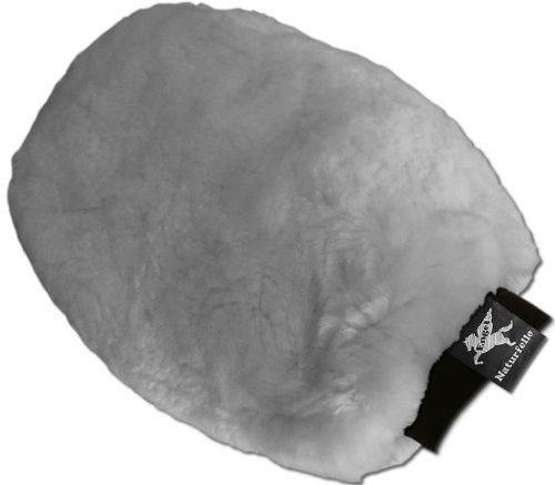 Engel Reitsport Putzhandschuh zur Fellpflege Lammfell silber hellgrau (Puha 1)