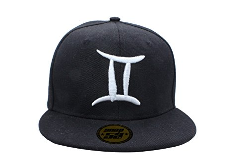 baseball-cap-hat-zodiac-12-constellation-hip-hop-snapback-logos-black-white-gemini