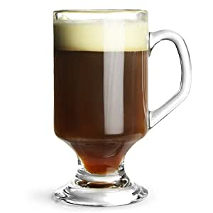 Irish Coffee Glasses 10.2oz / 290ml - Set of 4   Heat Resistant Glassware
