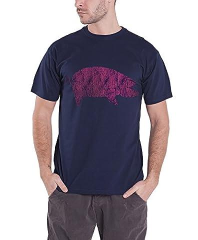 Pink Floyd T Shirt Homme Bleu Animals Pig Distressed logo nouveau officiel
