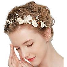 Tocado de novia tela flores cristal perla tiara boda diademas mujer joyería  accesorios de pelo fiesta 4f2f1e5cd88