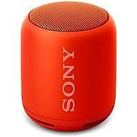 Sony SRS-XB10 Tragbarer, kabelloser Lautsprecher (Bluetooth, NFC, Extra Bass, waaserabweisend, 16 Stunden Akkulaufzeit) rot