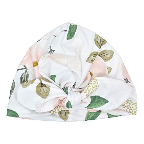 Soldmore7 Nette Neugeborene Krankenhaus-Baby-Hüte mit Blume Bowknot Autumn Cap Rabbit Ear Baby Hat(White)