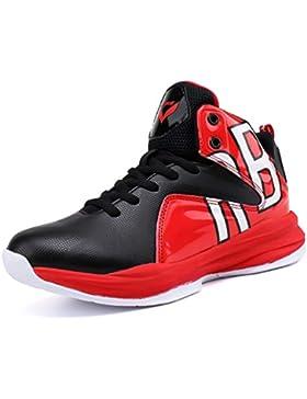 Zapatillas de Deporte para niños Zapatillas de Baloncesto para niños con Cordones Zapatillas Altas para niños...