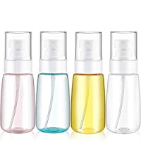 4 Pieces 2 Oz (60ML) Travel Spray Bottles Mist Spray Bottle Fine Mist Spray Bottles Refillable Travel Containers for Skincare Lotion/Makeup Sprayer/Perfumes/Cosmetic