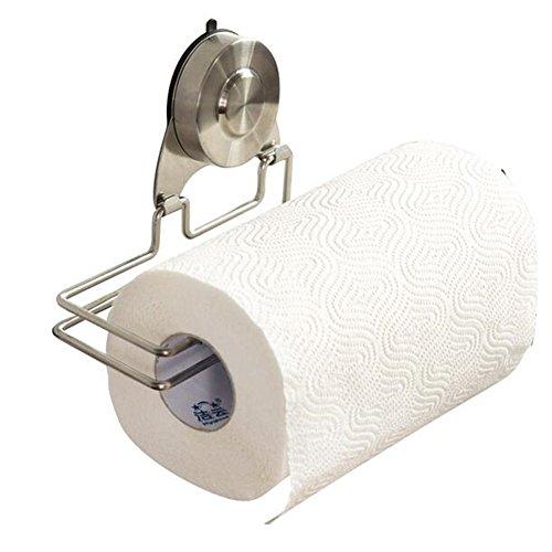 Waschlappen Saugnapf Halter (valink Edelstahl rostfrei Ablage Halter, Papier Waschlappen Halter mit Vakuum Saugnapf, Wand montiert Tissue Handtuch Aufhänger für Badezimmer Küche Organizer, edelstahl, silber, Medium)