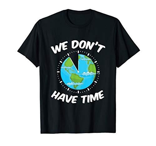 Fridays For Future - Erde als Uhr - Grüne Erde Textilien