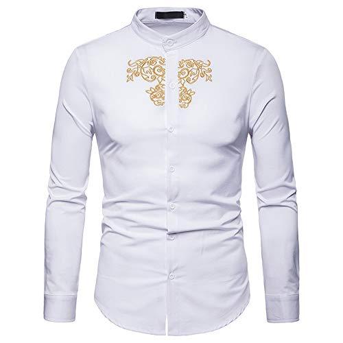 Herren Pullover,TWBB CardiganShirt Stickerei Sweatshirt Oberteile Schlank Casual Lange Ärmel Männer Hemd