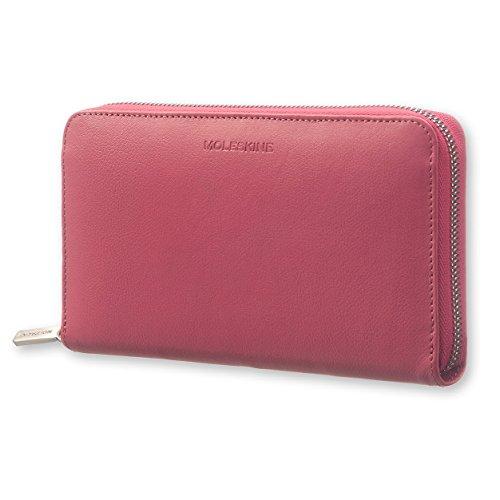 Portefeuille zippe cuir lineage rose