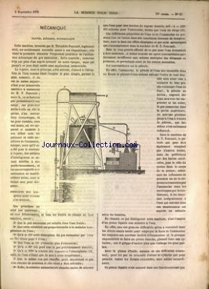 SCIENCE POUR TOUS (LA) [No 37] du 09/09/1876