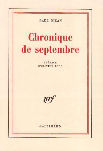 Chronique de septembre
