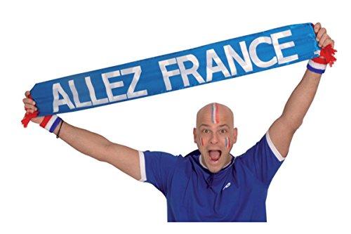 Echarpe tissu Allez France 140x17cm