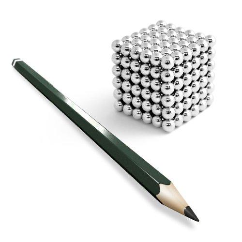 Preisvergleich Produktbild 216 Neodym Kugelmagnete D5mm D7mm D10mm GOLD SILVER BLACK NICKEL NdFeB Würfel, Killercube Variante:5mm Silver (216 Kugeln)