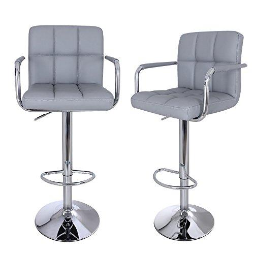 songmics-2-x-faux-leather-breakfast-kitchen-bar-stools-gray-ljb93g