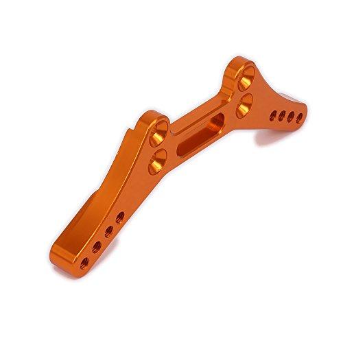 RCAWD Schock Turm hinten Dämpfer Platte 114434 113703 114433 Alu Aluminium für Rc Hobby Auto 1/10 HPI RS4 1Pcs(Orange) Aluminium Turm