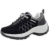 ☺HWTOP Damen Sneakers Sportschuhe Laufschuhe Erhöhte Schuhe Turnschuhe Fashion Frauen Schnürstiefel Schuhe Shake Schuhe Leichte Schuhe Trainer Outdoor Freizeitschuhe Fitnessschuhe Nubukleder